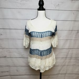 Cato Loose Knit Striped Top